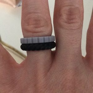 Qalo stacking rings and pouch